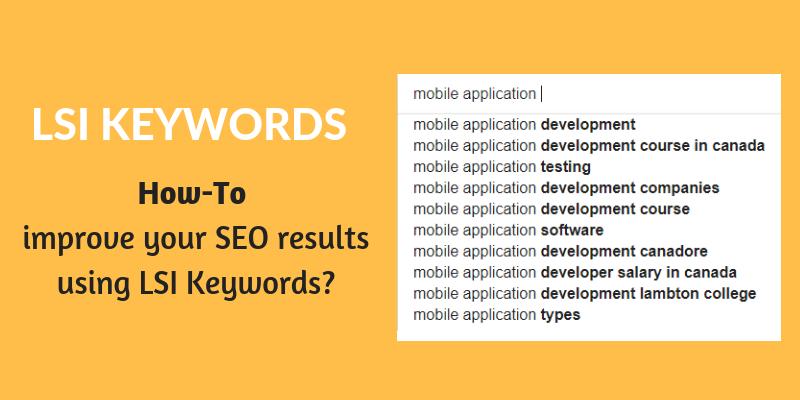 improve SEO using lsi keywords