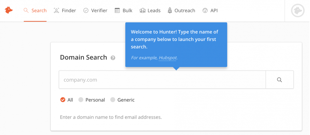 hunter email address tool