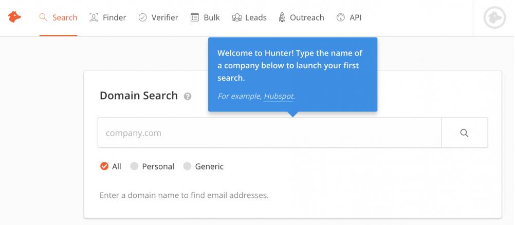 hunter email address tool