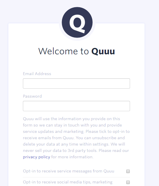 Quu Sign Up
