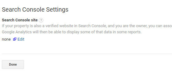 edit search console settings