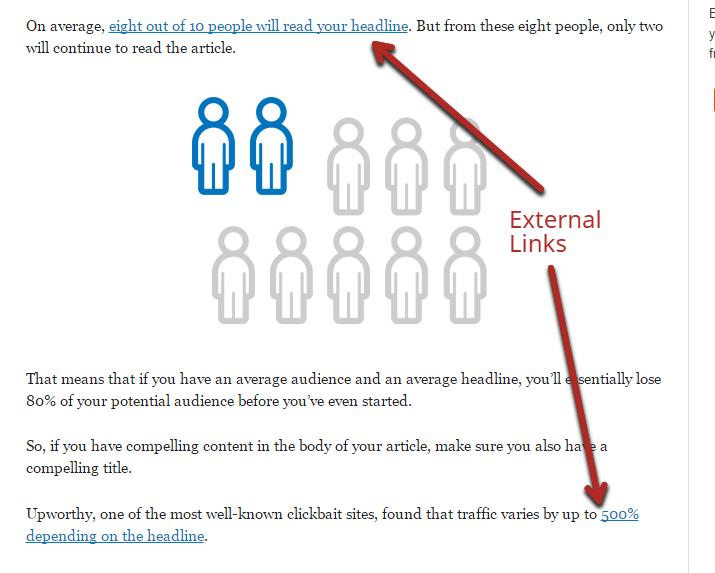 external link density