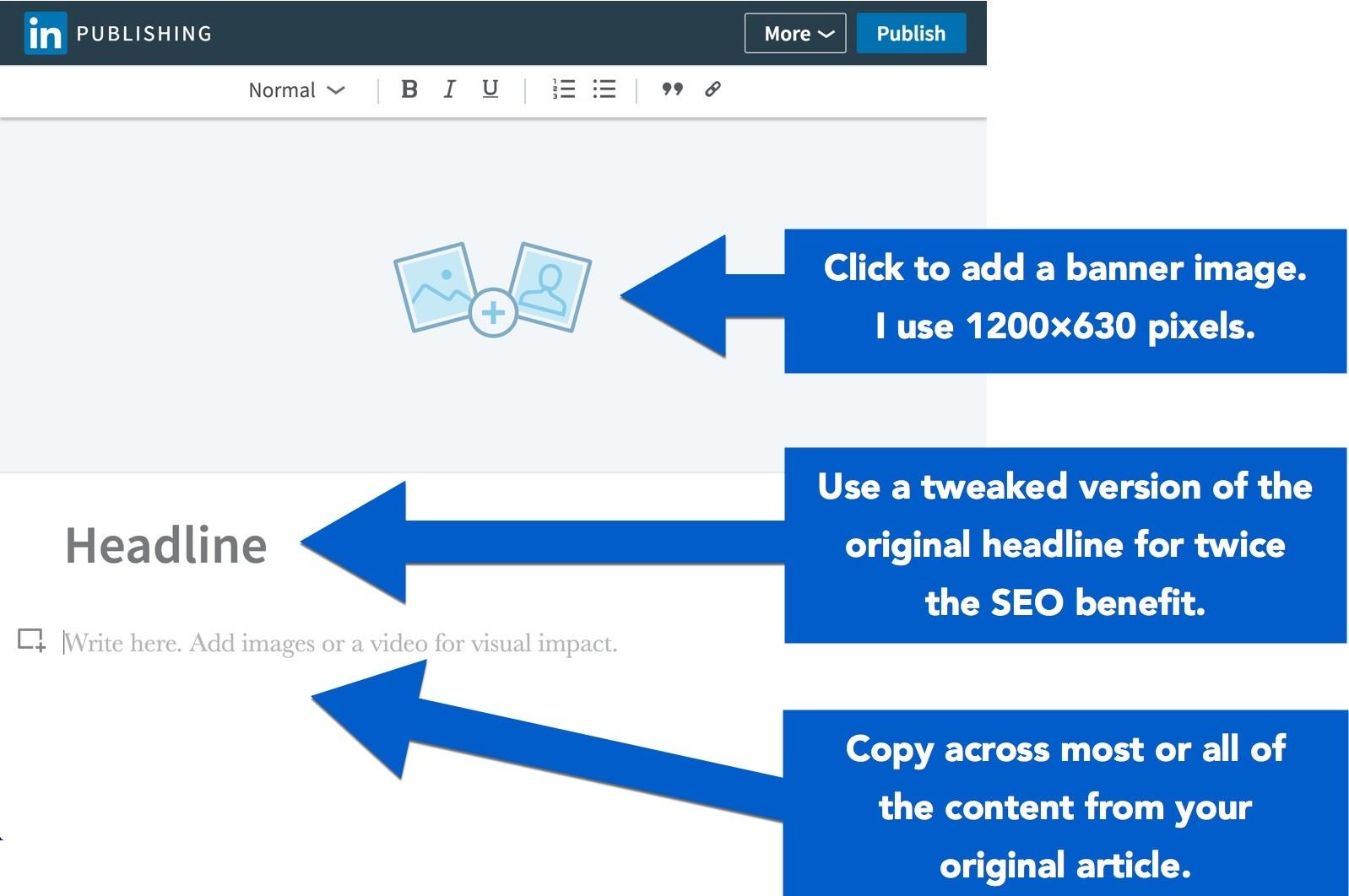 republishing content linkedin