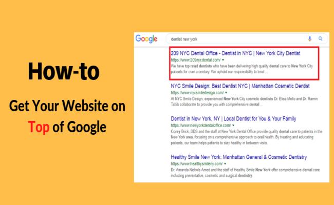 top of google