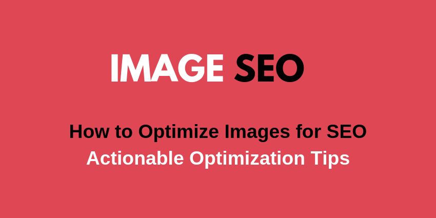 optimize images for SEO how to tips