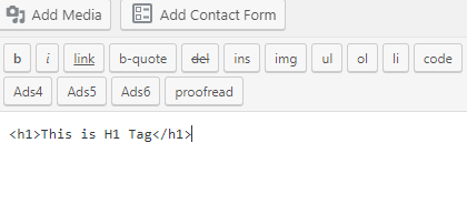 h1 tag source code