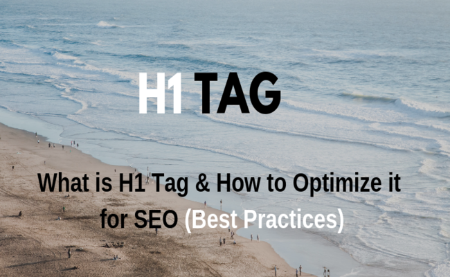 optimize h1 tag for seo