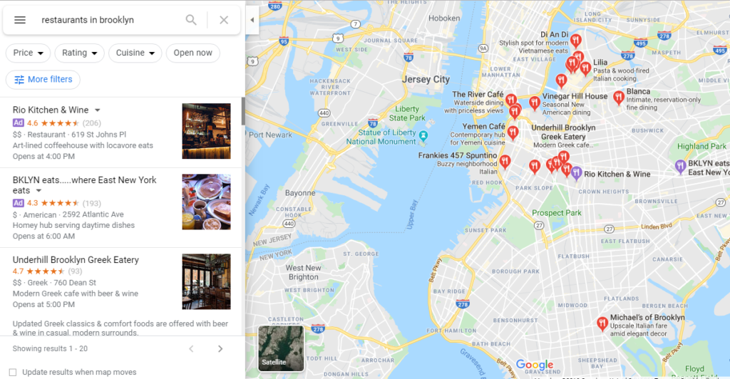 google-map-results